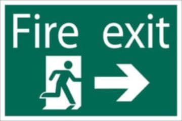DRAPER 'Fire Exit Arrow Right' Safety Sign